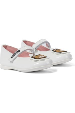 Moschino Kids Patent leather ballet flats