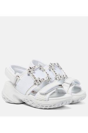 Roger Vivier Viv' Run embellished leather sandals