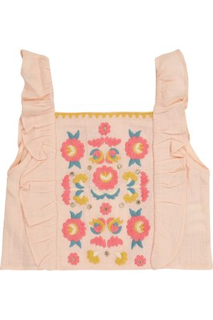 Louise Misha Girls Tops - Hadiya embroidered organic cotton top