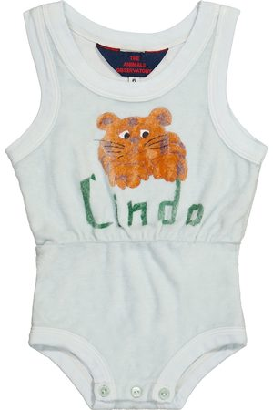 The Animals Observatory Baby Squirrel toweling playsuit
