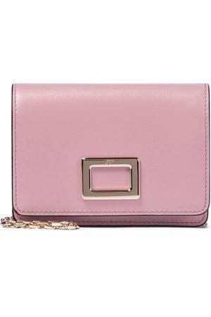 Roger Vivier Women Clutches - Très Vivier Mini leather clutch