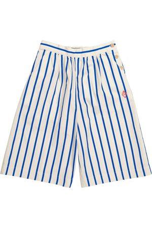The Animals Observatory Buffalo striped cotton shorts
