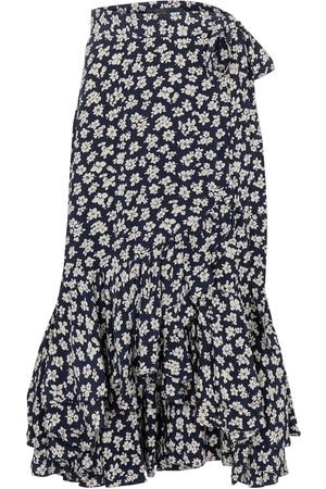 Polo Ralph Lauren Women Midi Skirts - Floral crêpe wrap skirt