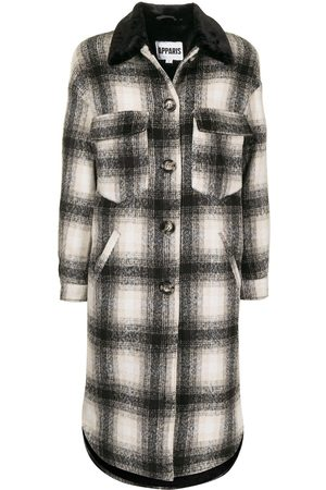 Apparis Women Coats - James checked single-breasted coat