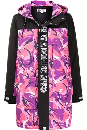 AAPE BY A BATHING APE Graphic-print hooded padded coat