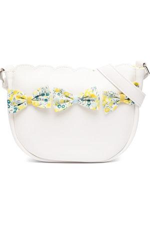 Familiar Floral-bow leather shoulder bag