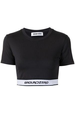Ground Zero Women Short Sleeve - Cropped logo-hem T-shirt