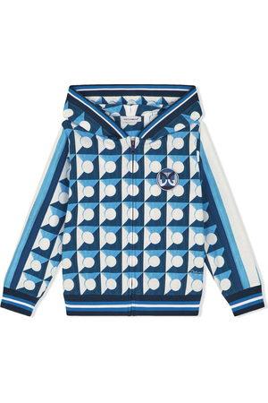 Dolce & Gabbana Boys Hoodies - Geometric-print zip-up hoodie