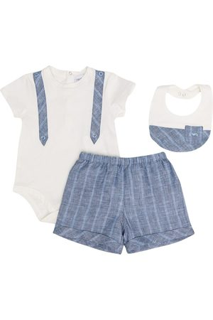 Emporio Armani Kids Stripe-pattern three-piece set