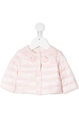 Moncler Enfant Jackets - Floral applique padded jacket