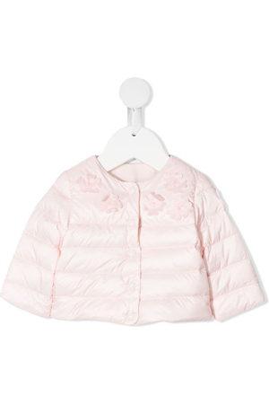 Moncler Jackets - Floral applique padded jacket