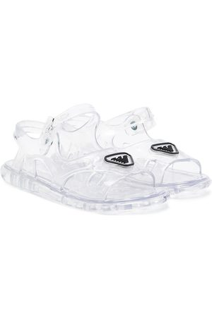 Emporio Armani Kids Transparent logo sandals