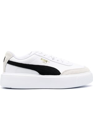 Puma Women Sneakers - Tonal leather trainers