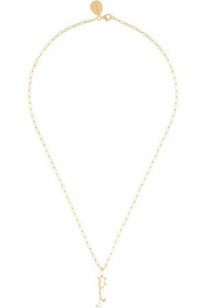 Simone Rocha Women Necklaces - Pearl-embellished F letter necklace