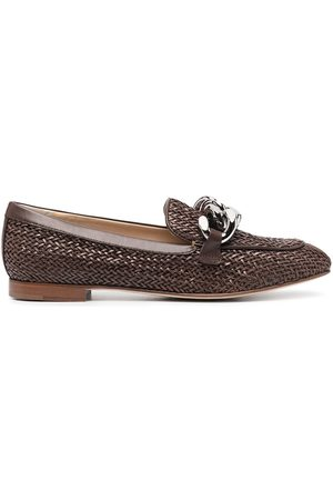 Casadei Women Loafers - Woven leather loafers