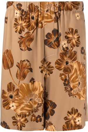 AMI Paris Men Bermudas - Floral-print Bermuda trousers