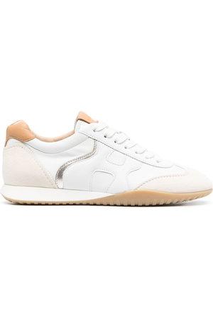 Hogan Women Sneakers - Metallic trim sneakers