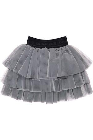 Balmain Girls Skirts - Ruffled Tulle Skirt