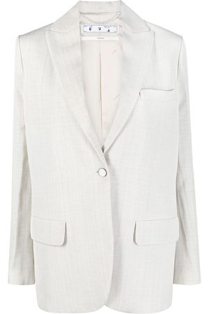 Off-White Women Blazers - Single-breasted tailored blazer