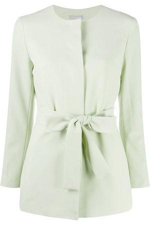 12 STOREEZ Women Blazers - Collarless belted blazer
