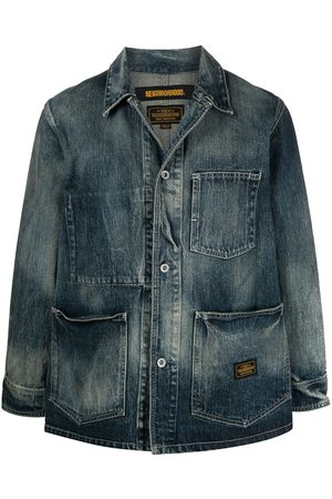 NEIGHBORHOOD Men Denim Jackets - Distressed denim jacket