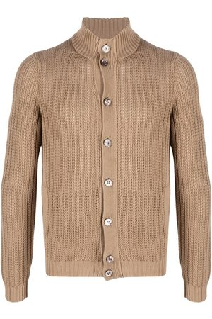 ZANONE Men Cardigans - Knitted linen-blend cardigan