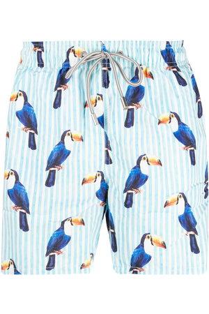 MC2 SAINT BARTH Men Swim Shorts - Toucan-print swim shorts