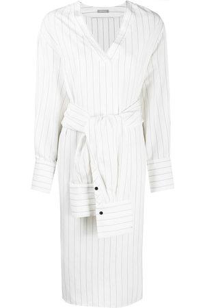 12 STOREEZ Striped tied-waist shirt dress