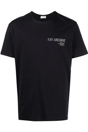 FAY Logo-print cotton T-shirt