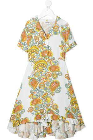 Lanvin Printed ruffled maxi dress