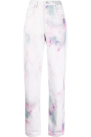 Isabel Marant Tie-dye print straight jeans