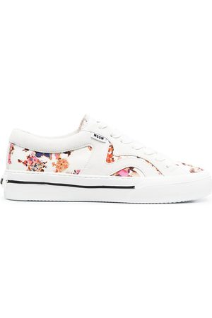 Msgm Panelled floral-print sneakers