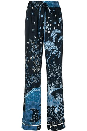 RED Valentino Floral-print straight-leg trousers