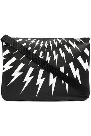 Neil Barrett Thunderbolt-print clutch bag