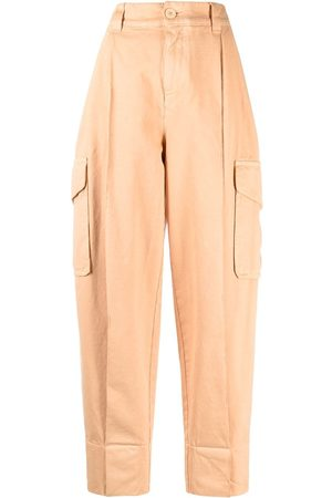 See by Chloé Women Trousers - High-waisted tapered-leg trousers
