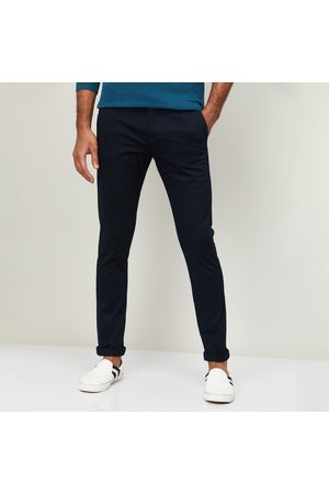 Celio Men Solid Super Skinny Fit Casual Trousers