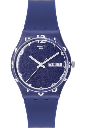 Swatch Women Navy Blue Shock-Resistant Analogue Watch GN726