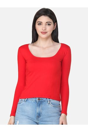 SCORPIUS Women Red Solid Top