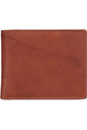 GENWAYNE Men Brown Solid Two Fold Wallet
