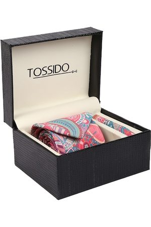 Tossido Men Pink & Green Printed Accessory Gift Set