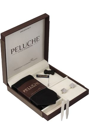 PELUCHE Men Black & Silver-Toned Accessory Gift Set