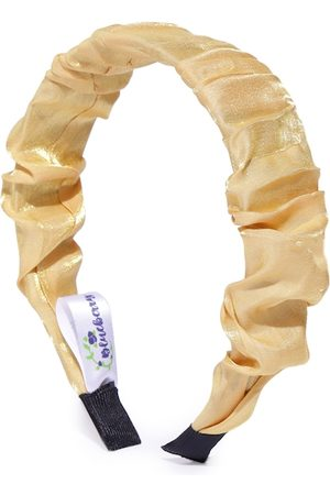 Blueberry Beige Solid Hairband with Crinkled Detail