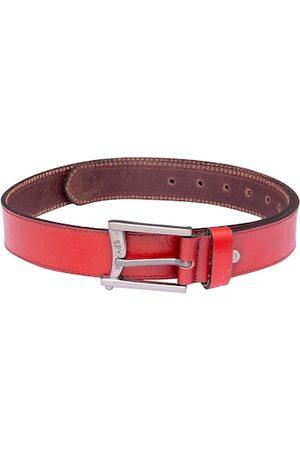 SPYKAR Men Red Solid Leather Belt