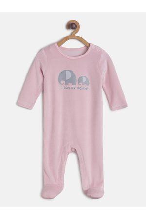 MINI KLUB Infant Girls Pink Printed Sleepsuit