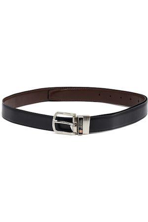 SWISS MILITARY Men Black Solid Genuine Leather Belt