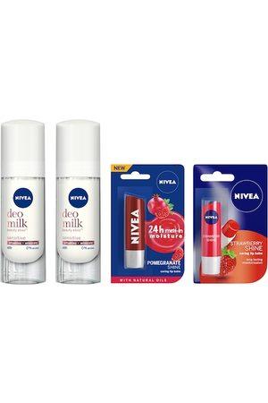 Nivea Women Set of Roll-On Deodorants & Lip Blams