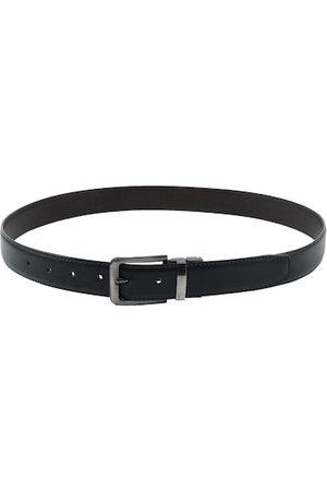 Kastner Men Black Solid Leather Belt