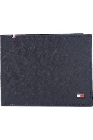 Tommy Hilfiger Men Navy Blue Textured Genuine Leather Two Fold Wallet