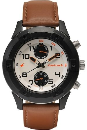 Fastrack Men Brown Analogue Watch 3182KL48