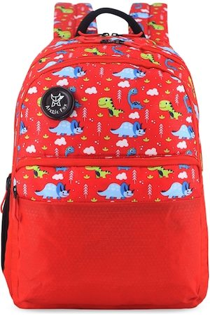 Arctic Fox Unisex Kids Red Graphic Backpack